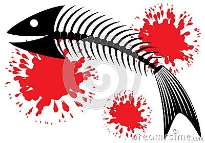 Skeleton of fish.