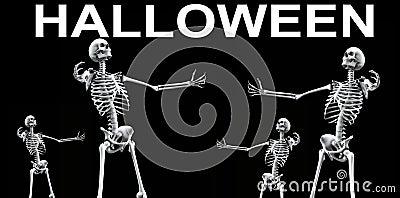 Skeleton Group Halloween 4