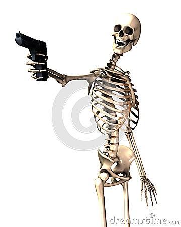 Skeleton And Gun 12