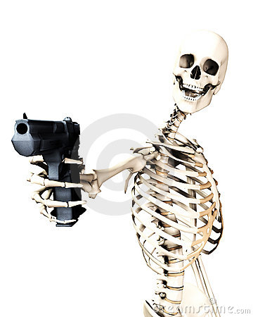 Skeleton And Gun 4