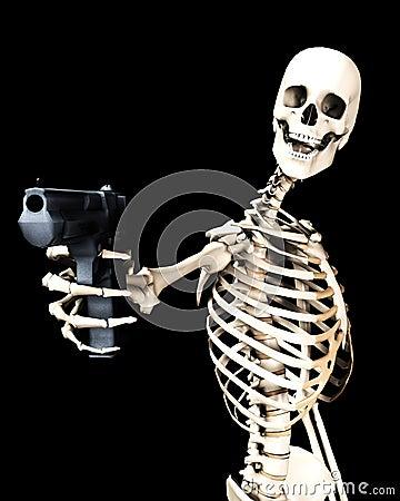 Skeleton And Gun 5
