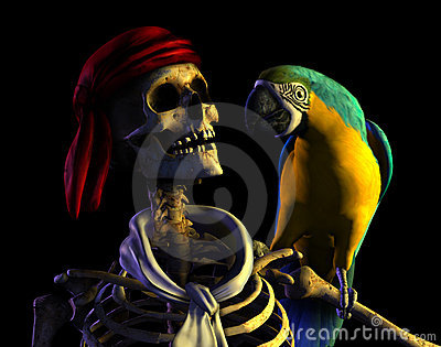 Skeleton Pirate - with clipping path