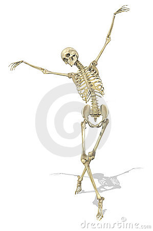 A Skeleton takes a Graceful Pose