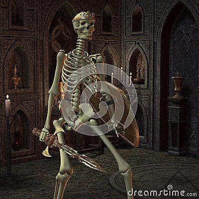 Skeleton Warriors in the altar room