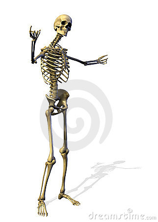 Free Skeleton - Welcome Gesture - Includes Clipping Path Royalty Free Stock Photography - 228677