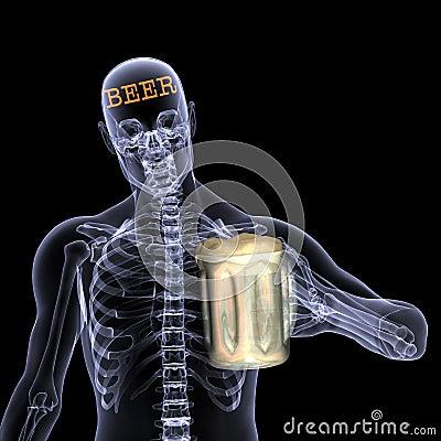 Free Skeleton X-Ray - Beer Stock Photos - 2032713