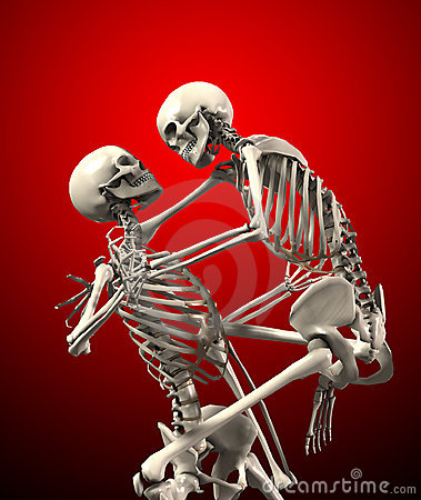 Skeletons Attacking Each Other