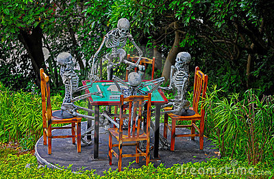 Halloween skeletons decoration