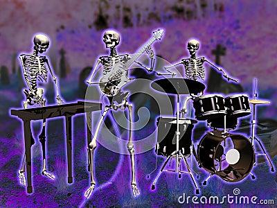 Skeletons musicians