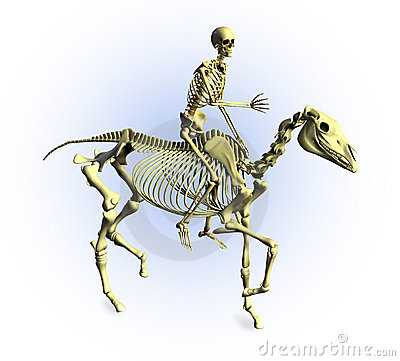 Skeletons Riding - with clipping path