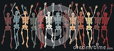 Skeletons together
