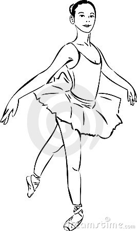 Sketch of the actress in ballerina tutu