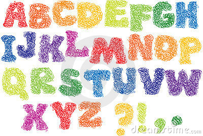 Sketch Alphabet - scribble