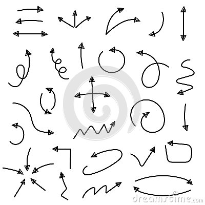 Free Sketch Arrow Set Stock Photo - 51874200