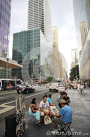 Sketch Artist in New York Editorial Photo