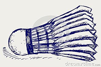 Sketch badminton ball