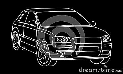 Sketch of car