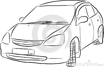 Sketch of a car