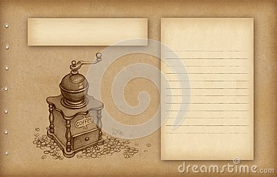 Sketch of coffee grinder