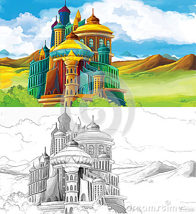 The sketch coloring page with preview