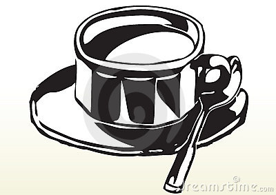Sketch of cup of tea or coffee
