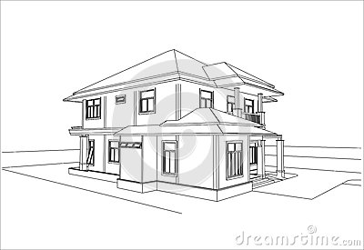 Sketch Design Of House Vector Stock Vector Image 41895001