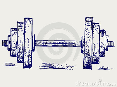 Sketch dumbbell weight