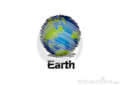 Sketch the earth handwriting style