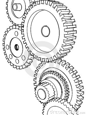 Stock Vector Set Of Industrial Gear Wheel Vector together with 1040816883 as well Royalty Free Stock Photography Bicycle Cogs Image22080417 further Cogs And Gears Art in addition 164495121. on cogs and gears