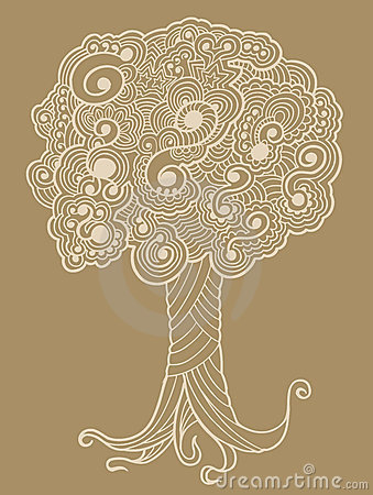 Sketch Henna doodle Tree