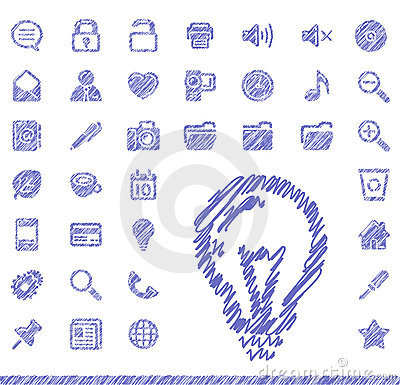 Free Sketch Icons Stock Image - 10462491