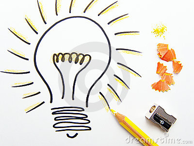 Sketch of ideas light bulb