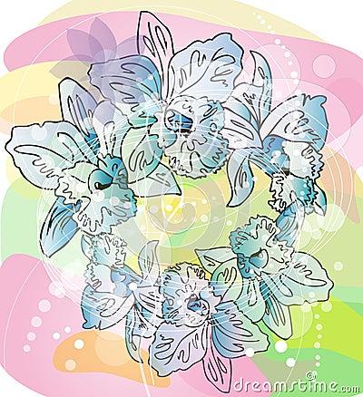 Sketch illustration of flowers
