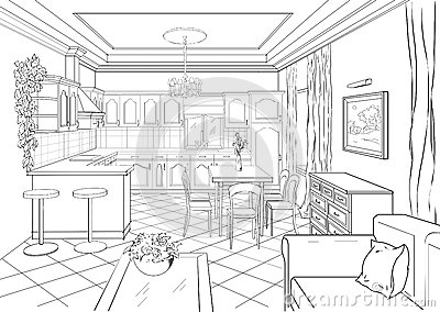 Interior Design Sketches Kitchen baroque style interior design 1860's interior design ~ home plan