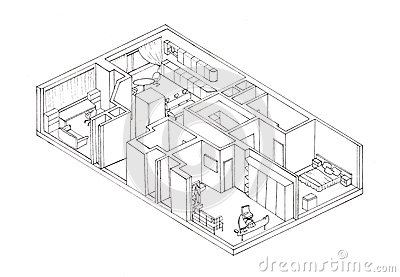 ... Isometry Apartment Plan Liner Image29976779. on rome house plans