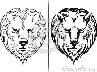 Sketch of Lion Head