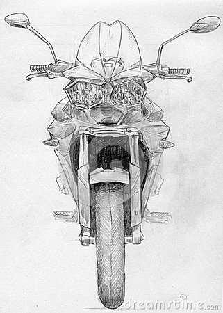 Sketch of a motorcycle