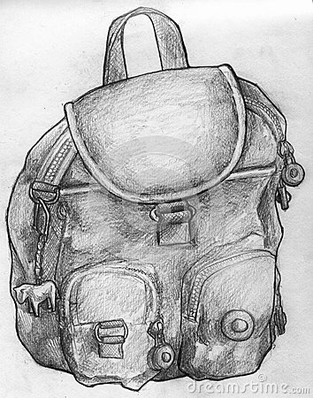 Free Sketch Of A School Bag Stock Photography - 45363872