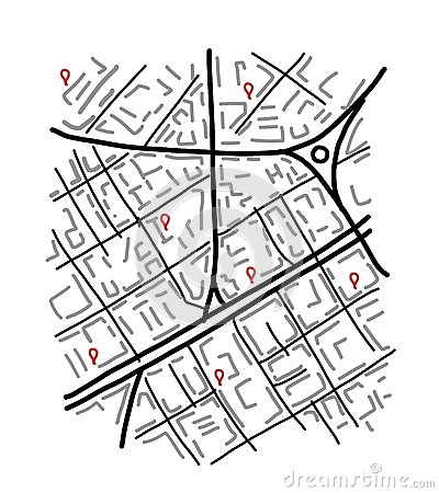 Free Sketch Of City Map For Your Design Stock Image - 49426401