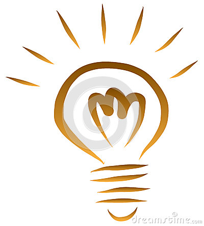 Free Sketch Of Light Bulb  Vector Royalty Free Stock Photography - 38824077