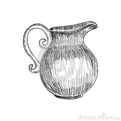 Free Sketch Of Milk Jug Isolated, Hand Drawn Illustration, Vector Sketch. Royalty Free Stock Images - 93291069