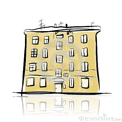 Sketch of old building for your design