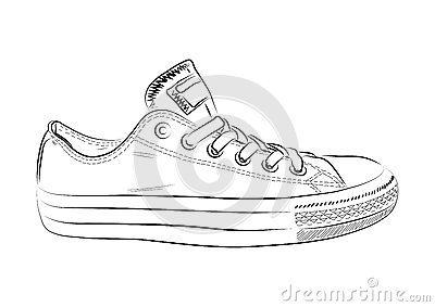 how to draw sport shoes