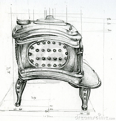 Sketch of Stove