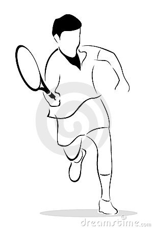 Sketch of tennis player