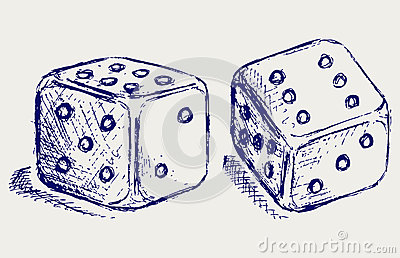 Sketch two dices