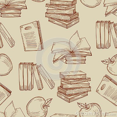 Free Sketch Vintage Books Seamless Pattern Or Background Royalty Free Stock Image - 133295816