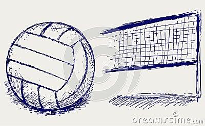 Sketch volleyball