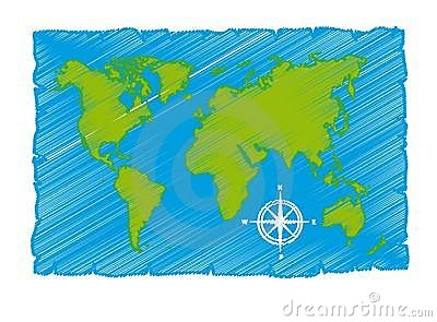Sketch of world map