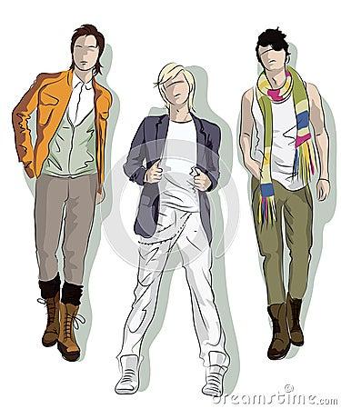 Sketch of young men